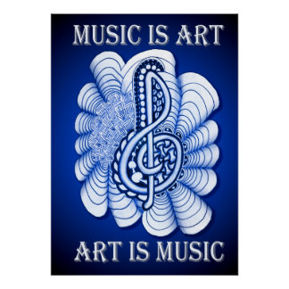 Music is Art Poster