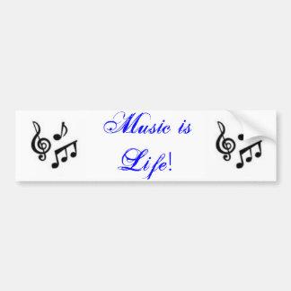 Music is Life! Bumper Sticker