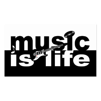 Music is life business card - customize!