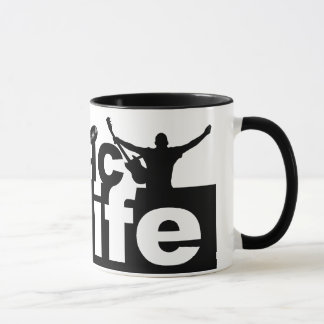 Music is Life mug - choose style, color
