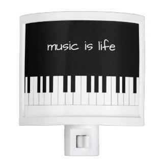Music Is Life Piano Theme Nite Lite