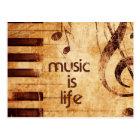 Music is Life Postcard