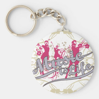 Music is Life T-shirts and Gifts Key Chain