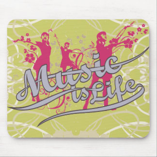Music is Life T-shirts and Gifts Mouse Pad