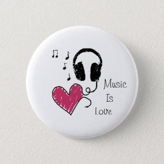 Music Is Love 2 Inch Round Button