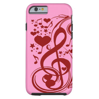 Music is love_ tough iPhone 6 case