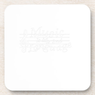 Music Is My 2nd Language Awesome Music Lovers Gift Coaster