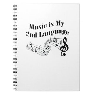 Music is My 2nd Language Love Music Gift Notebook