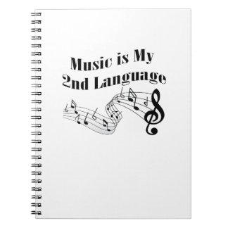 Music is My 2nd Language Love Music Gift Notebooks
