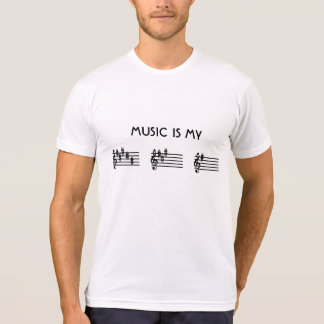 Music Is My BAG Key Signature Spelling T-Shirt