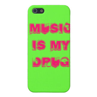 music is my drug iPhone 5 cases