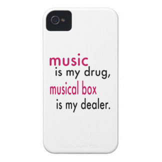 Music Is My Drug Musical box Is My Dealer Case-Mate iPhone 4 Case