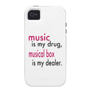 Music Is My Drug Musical box Is My Dealer Case-Mate iPhone 4 Cover