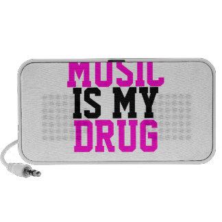 MUSIC IS MY DRUG NOTEBOOK SPEAKERS