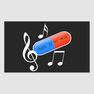 Music is My Drug! Sticker