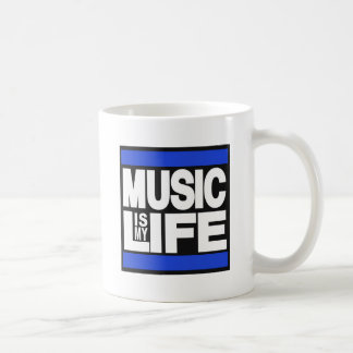 Music is My Life Blue Coffee Mug