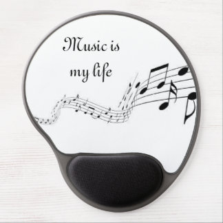 Music is my life gel mouse pad