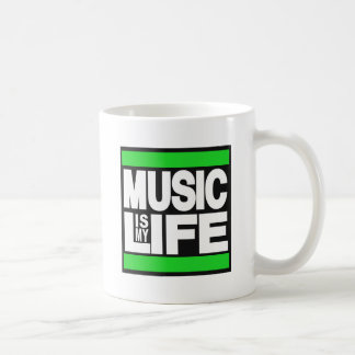 Music is My Life Green Coffee Mug