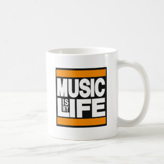 Music is My Life Orange Coffee Mug