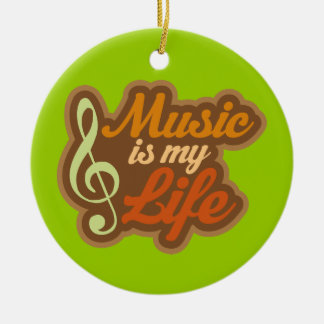 Music Is My Life Ornament Christmas Gift