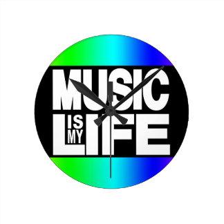 Music is My Life Rainbow Wallclock