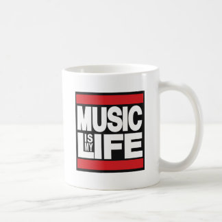 Music is my life Red Classic White Coffee Mug