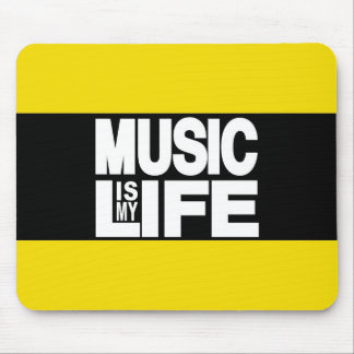 Music is My Life Yellow Mouse Pad