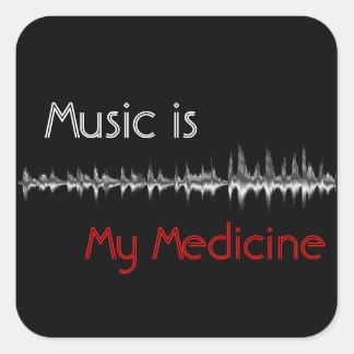 Music is My Medicine Black & Red Soundwave Sticker