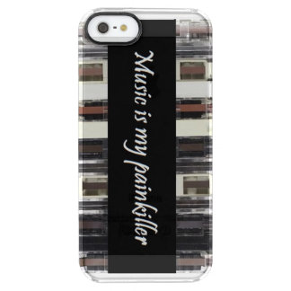 Music is my painkiller clear iPhone SE/5/5s case