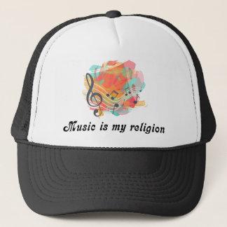 Music is my religion trucker hat