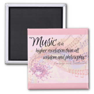 'Music is...' quote poster Magnet