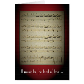 Music is the Food of Love Greeting Card