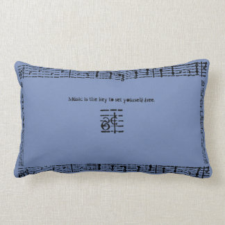 Music is the Key to Set Yourself Free Lumbar Pillow