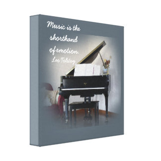 Music is the Shorthand -Tolstoy quote - canvas art