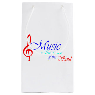 Music is the voice of the Soul 2 Small Gift Bag