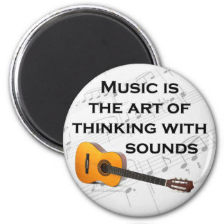 Music is thinking with sound Guitar Magnet