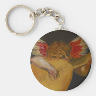 Music is well said to be the speech of angels basic round button keychain