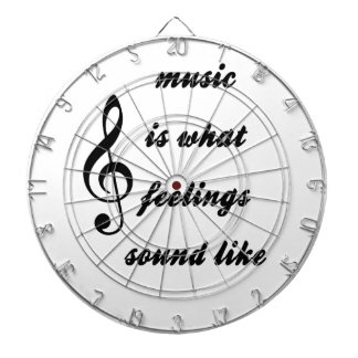Music Is What Feelings Sound Like Dartboard