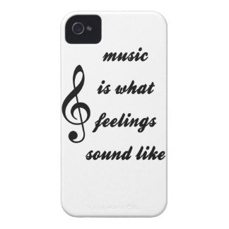 Music Is What Feelings Sound Like iPhone 4 Case
