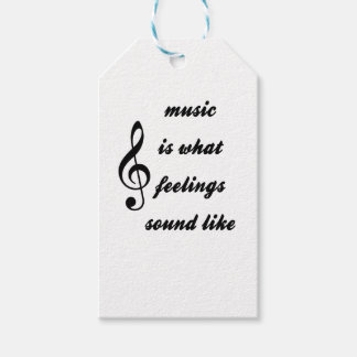 Music Is What Feelings Sound Like Pack Of Gift Tags