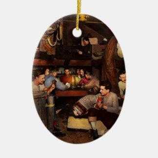 Music - Jam Session 1918 Ceramic Oval Ornament