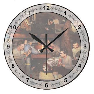 Music - Jam Session 1918 Large Clock