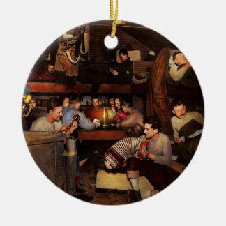 Music - Jam Session 1918 Round Ceramic Ornament