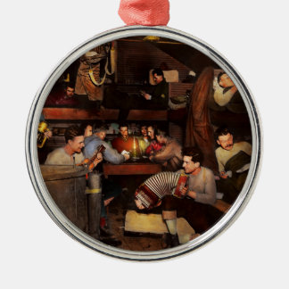 Music - Jam Session 1918 Silver-Colored Round Ornament