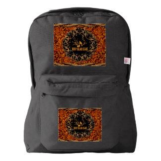 Music, key notes on vintage background backpack