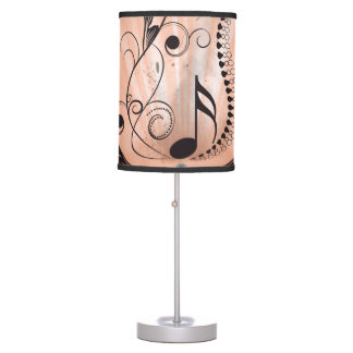 Music key notes table lamp