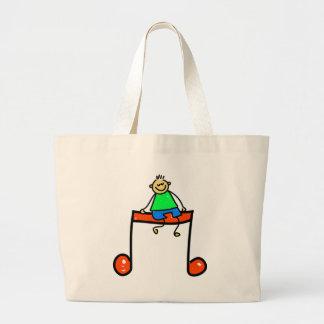 Music Kid Large Tote Bag
