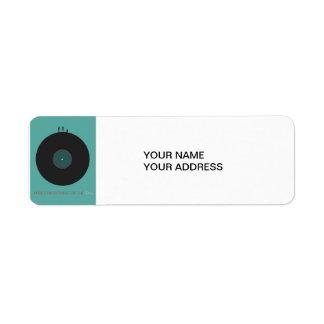 Music Return Address Label