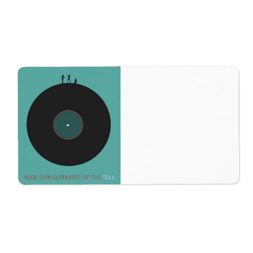 Music Custom Shipping Labels