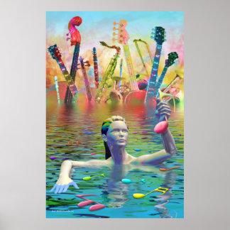 Music Lake Poster